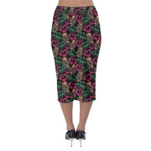 Load image into Gallery viewer, LEILANI TIKI Stretch Wiggle Skirt XS-5XL