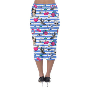 SAILOR GAL Stretch Wiggle Skirt XS-5XL