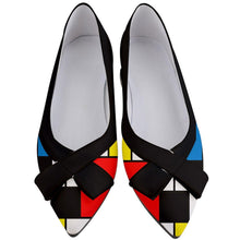 Load image into Gallery viewer, MONDRIAN Women's Pointed Toe Low Bow Heels