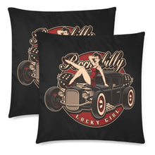 "Load image into Gallery viewer, LUCKY GIRL Cushion Cover 18""x 18"" (Twin Sides) (Set of 2)"