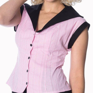 Buy Rockabilly Tops Australia. 50s inspired blouse.