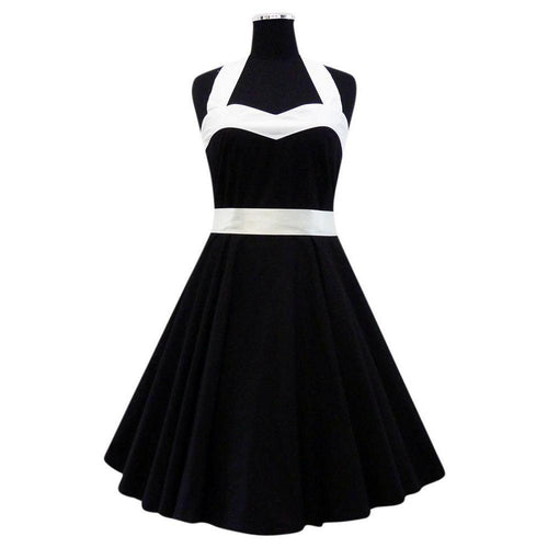 Heart Shape Black & White Rockabilly Swing Dress XL ONLY