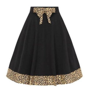 ROCK 'N' ROLL LEOPARD SWING SKIRT XS to 4XL