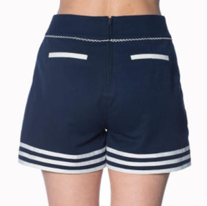 NAUTICAL ROCKABILLY SET SAIL SHORTS XS - 4XL