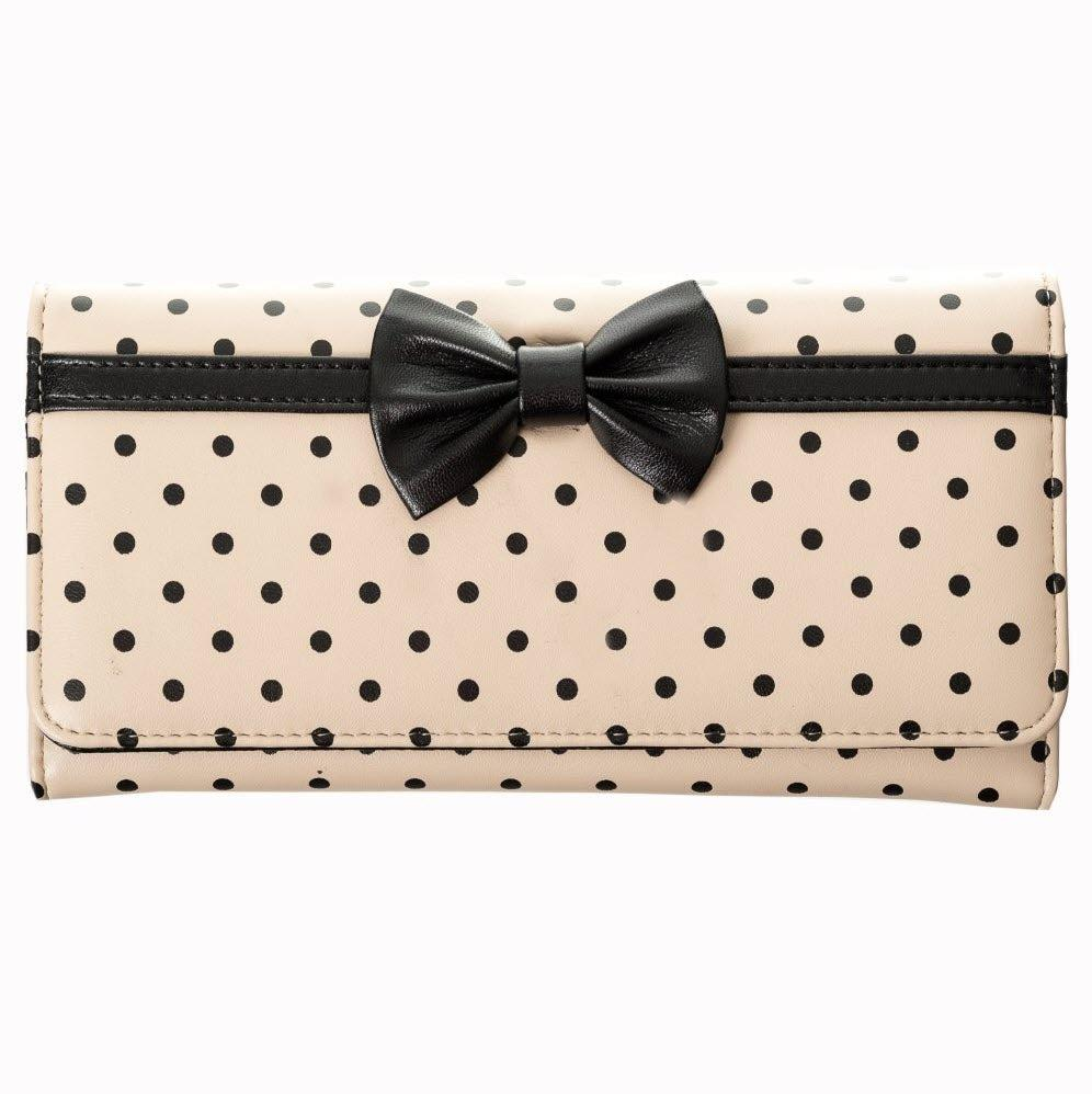 CARLA WALLET by BANNED APPAREL UK BLACK CREAM