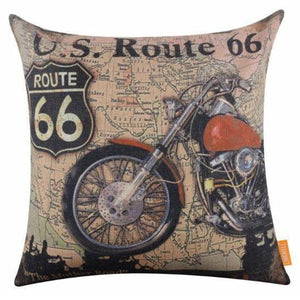 "ROUTE 66 CUSHION COVER ""HARLEY2"""