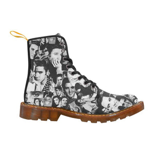 Elvis The King Women's Lace Up Combat Boots