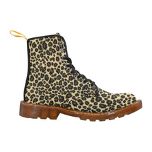 Load image into Gallery viewer, Leopard Print Women's Lace Up Combat Boots