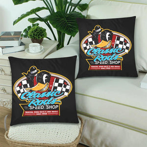 "CLASSIC RODS Cushion Cover 18""x 18"" (Twin Sides) (Set of 2)"