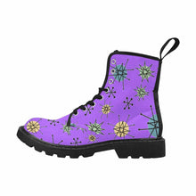 Load image into Gallery viewer, Atomic Purple Lace Up Combat Boots
