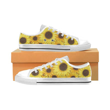 Load image into Gallery viewer, SUNFLOWERS Kid's Canvas Sneakers