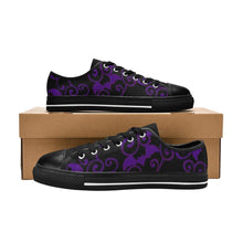 Load image into Gallery viewer, ANTIQUE BATS PURPLE Retro Style Sneakers