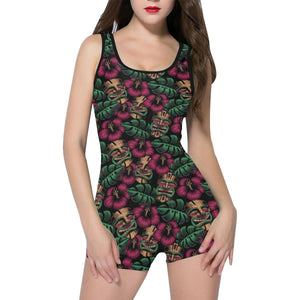LEILANI TIKI Women's One Piece Boyleg Swimsuit XS-5XL