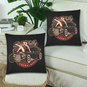 "LUCKY GIRL Cushion Cover 18""x 18"" (Twin Sides) (Set of 2)"