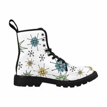 Load image into Gallery viewer, Atomic White Lace Up Combat Boots