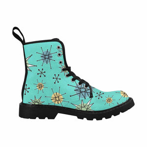 Atomic Blue Lace Up Combat Boots