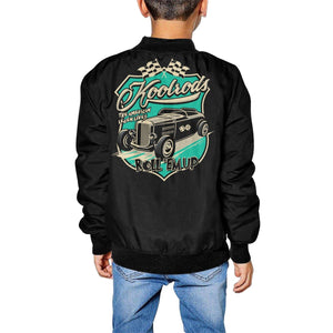 KOOLRODS Kid's Hot Rod Print Bomber Jacket XS-XL