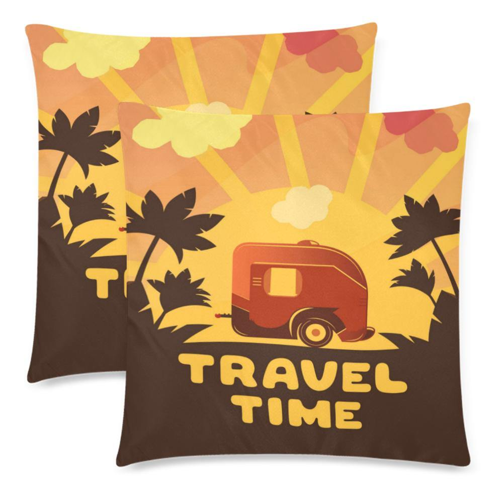 TRAVEL TIME Throw Pillow Cover 18