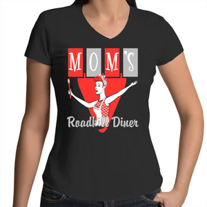 Roadkill Diner - Womens V-Neck T-Shirt 8-16
