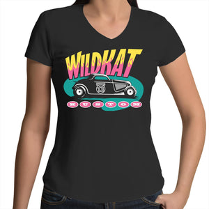 WILDKAT - Womens V-Neck T-Shirt 8-16