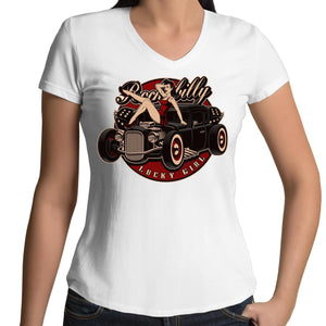 Lucky Girl- Womens V-Neck T-Shirt 8-16