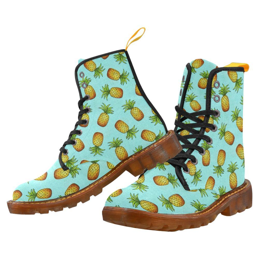 Pina Colada Pineapple Women's Lace Up Combat Boots
