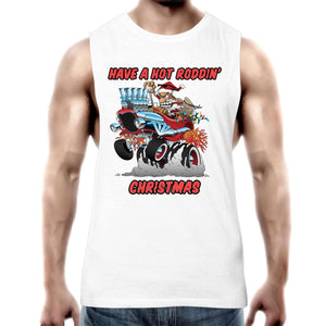 HOT RODDIN' CHRISTMAS - Mens Tank Top Tee XS-2XL