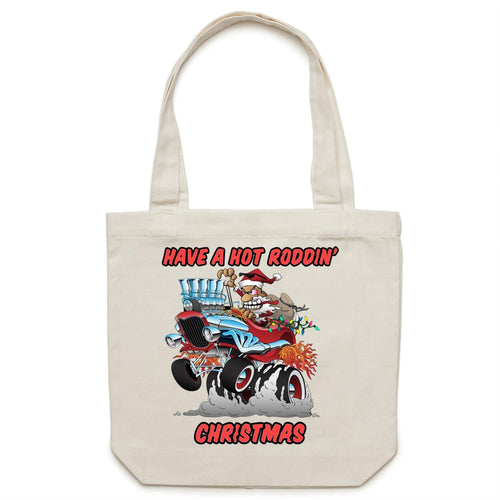HOT RODDIN' CHRISTMAS - Canvas Tote Bag