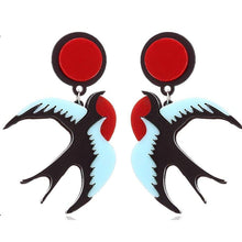 Load image into Gallery viewer, SWALLOWS Acrylic Drop/Dangle Stud Post Earrings