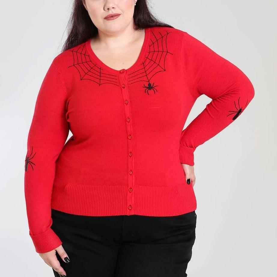 [SPECIAL ORDER] HELL BUNNY SPIDER CARDIGAN RED XS-4XL