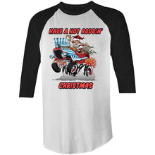 Load image into Gallery viewer, HOT RODDIN' CHRISTMAS - 3/4 Sleeve T-Shirt