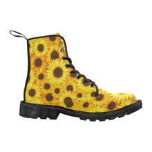 Load image into Gallery viewer, SUNFLOWERS  Women's Lace Up Canvas Boots