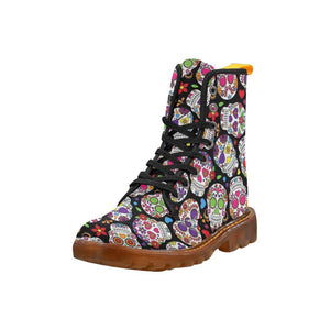 Sugar Skulls Women's Lace Up Combat Boots