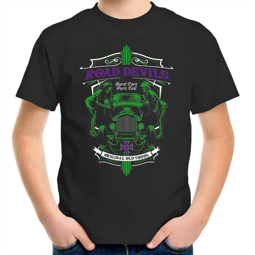 ROAD DEVILS Youth Crew T-Shirt 2-14