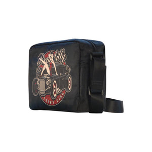 "UNISEX Crossbody Nylon Satchel Bag ""Rockabilly Lucky Girl"""