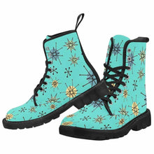 Load image into Gallery viewer, Atomic Blue Lace Up Combat Boots
