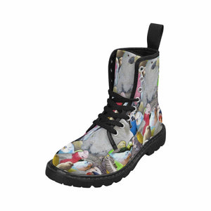 Parrot Lovers Lace Up Combat Boots