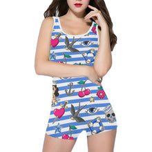 Load image into Gallery viewer, SAILOR GAL Women's One Piece Boyleg Swimsuit XS to 5XL