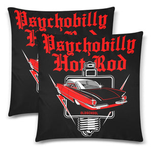"PSYCHOBILLY HOTROD Throw Pillow Cover 18""x 18"" (Twin Sides) (Set of 2)"