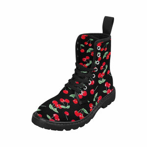 Cherry Pops Women's Lace Up Canvas Boots