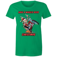 Load image into Gallery viewer, HAVE A WHEELIE GOOD CHRISTMAS - Womens T-shirt 8-20