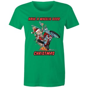HAVE A WHEELIE GOOD CHRISTMAS - Womens T-shirt 8-20