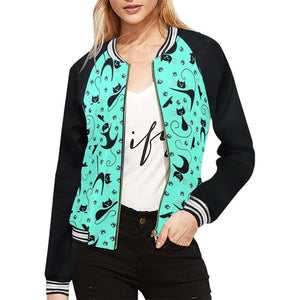 CAT & MOUSE MINT Women's Varsity Jacket XS-2XL
