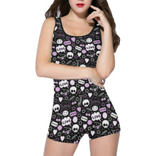 Load image into Gallery viewer, PUNK! Women's One Piece Boyleg Swimsuit XS-5XL