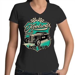 KOOLRODS TURQUOISE - Womens V-Neck T-Shirt 8-16