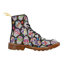 Load image into Gallery viewer, Sugar Skulls Women's Lace Up Combat Boots