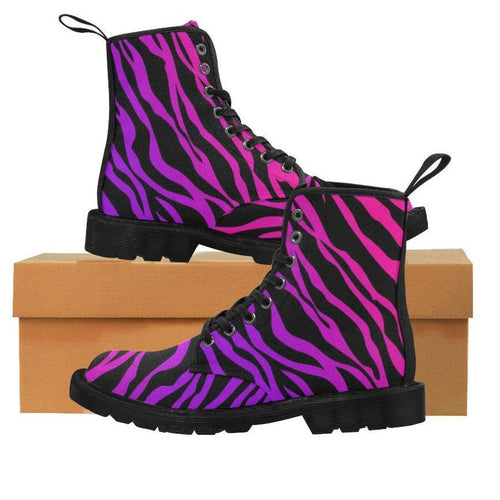 CRAZY TIGER Women's Lace Up Canvas Boots