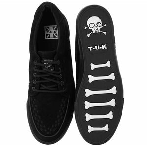 A9184 BLK SUEDE NO RING VULC SNEAKER
