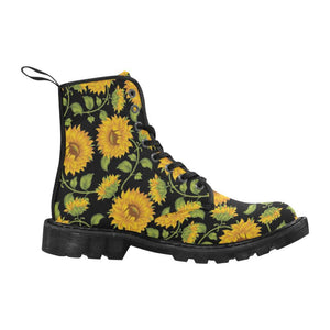 SUNFLOWERS BLACK Women's Lace Up Canvas Boots B
