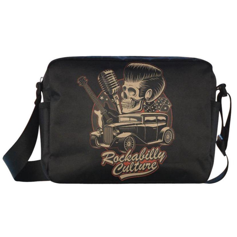ROCKABILLY CULTURE Classic Cross-body Nylon Bags